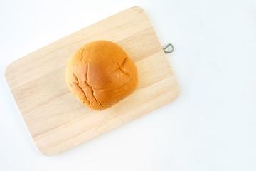 bread rolls bun on white background