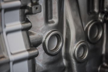 new diesel engine parts closeup
