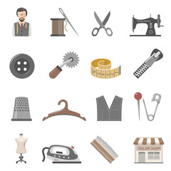 Tailor Equipment Icons