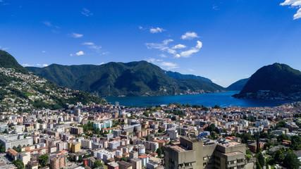 Aerial view of Lugano