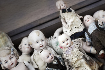Old porcelain dolls