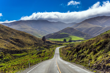 Magnificent highway in New Zealand