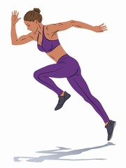 illustration of runner , vector draw