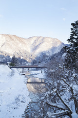 Snowscape of Sho river