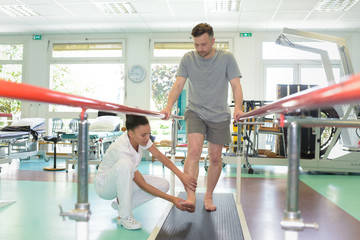 man walking at fitness studio