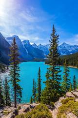 Lake Moraine in  Park Banff