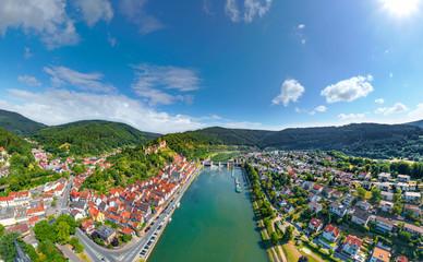 Luftbild Hirschhorn am Neckar