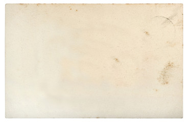 Used paper sheet edges Old cardboard stains white background