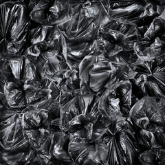 Top view on garbage bags