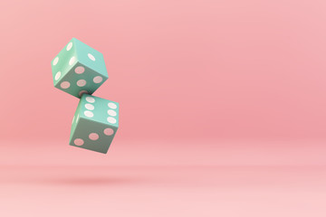 dices falling