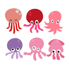 squid vector collection design