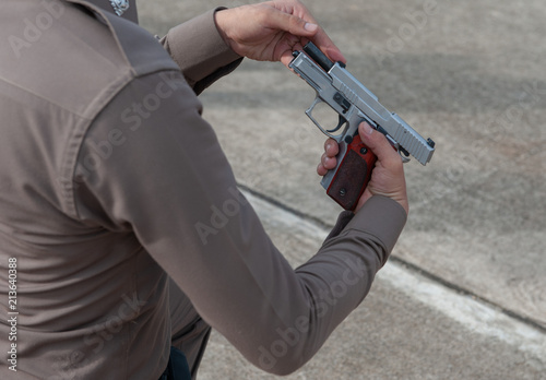 Police tactical firearms training outdoors