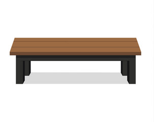 Benches isolated on white background.vector illustration.wooden construction.