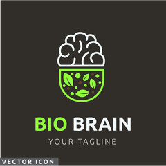 Natural brain pill Logo/Icon