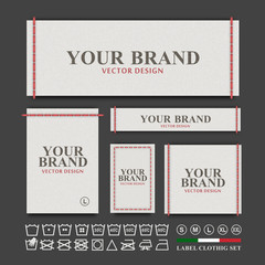 Label clothing vector set