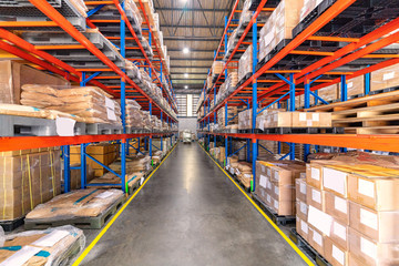 Interior of Logistics warehouse