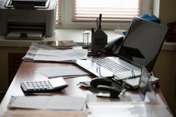Office worker desk