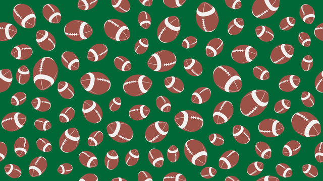 football american ball seamless pettern vector illustration eps10