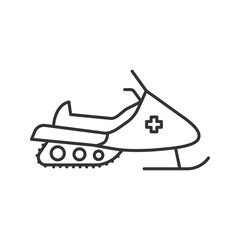 Snowmobile linear icon