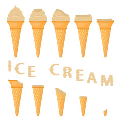 Vector illustration for natural ice cream