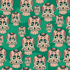 Calavera seamless pattern