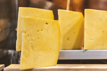 Cheddar cheese at the bazaar
