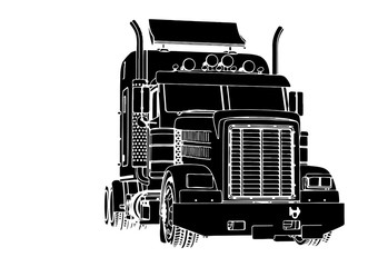 silhouette of truck vector