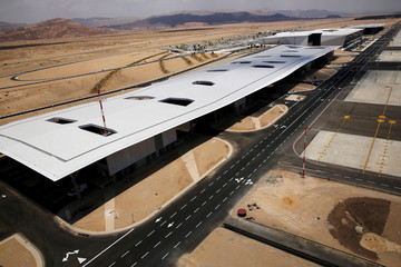 A general view of the new Ramon International Airport in Timna Valley, north to Eilat