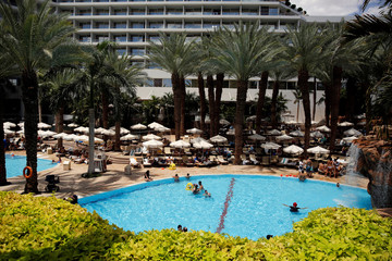 A general view of the pool at the Royal Beach Hotel in Eilat