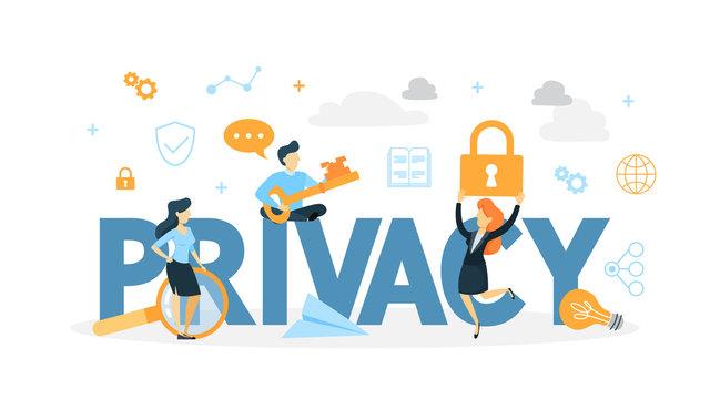 Data privacy concept illustration