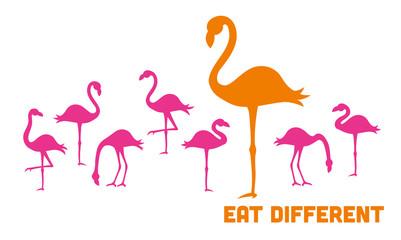 flamingo silhouetten