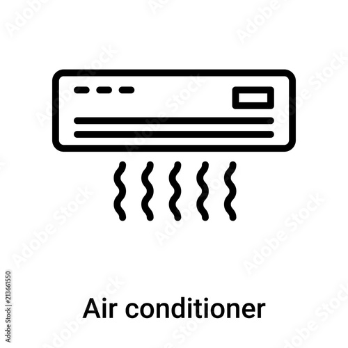 Air Conditioner Icon Vector Sign And Symbol Isolated On White