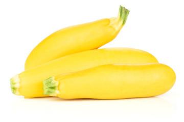 Fresh Raw yellow zucchini isolated on white