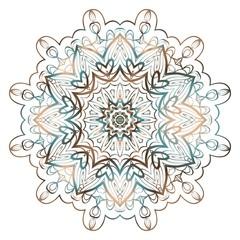 floral mandala, decorative ornament. design for print fabric, tatto. vector.