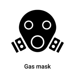 Gas mask icon vector sign and symbol isolated on white background, Gas mask logo concept