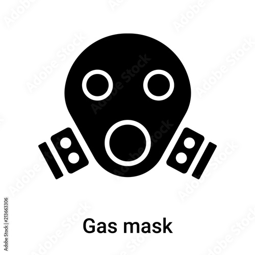 Gas mask icon vector sign and symbol isolated on white