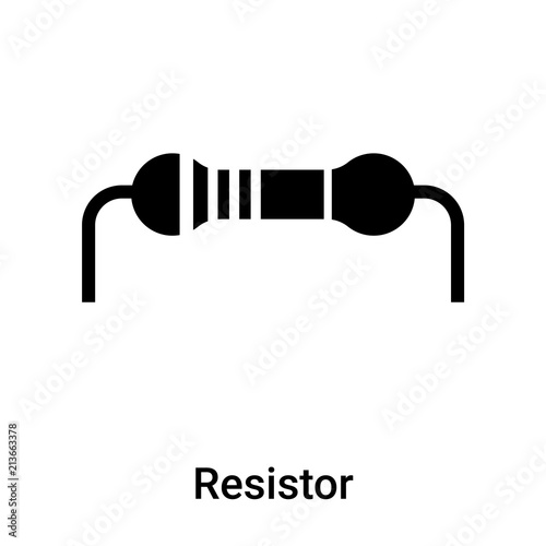 Resistor Icon Vector Sign And Symbol Isolated On White Background