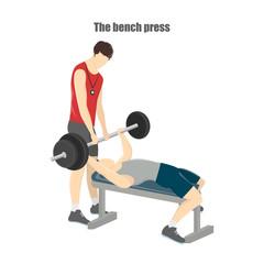 Bench press exercise