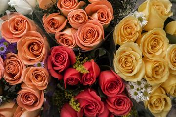 Ramos de rosas de diferentes colores