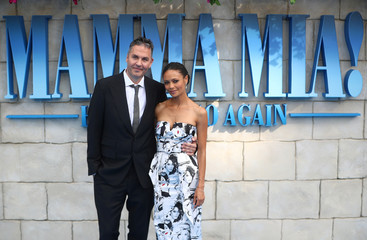 Ol Parker and Thandie Newton attend the world premiere of Mamma Mia! Here We Go Again at the Apollo in Hammersmith, London