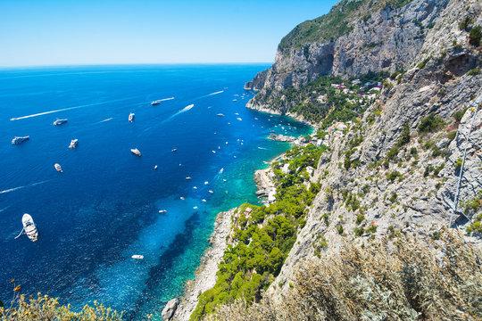 Beauriful summer day in Capri island, Italy