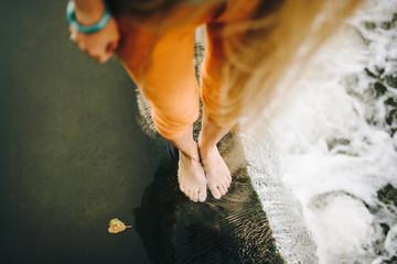 feet in waterfall