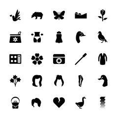 Collection of 25 beautiful filled icons
