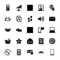 Collection of 25 internet filled icons