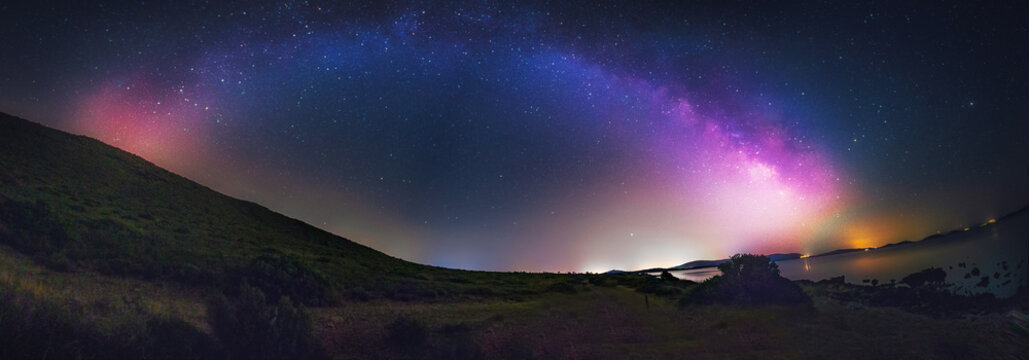 Panoramic view of Milkyway with beautiful dreamy look