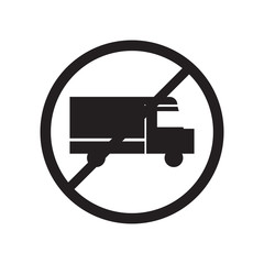 Heavy Vehicles Not Allowed icon vector sign and symbol isolated on white background, Heavy Vehicles Not Allowed logo concept