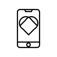 Phone icon vector sign and symbol isolated on white background, Phone logo concept