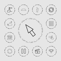 Collection of 13 navigation outline icons