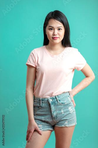 Asian girl short shorts