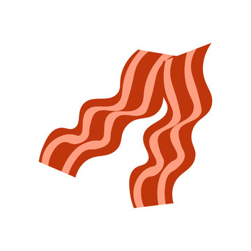 Bacon icon vector sign and symbol isolated on white background, Bacon logo concept